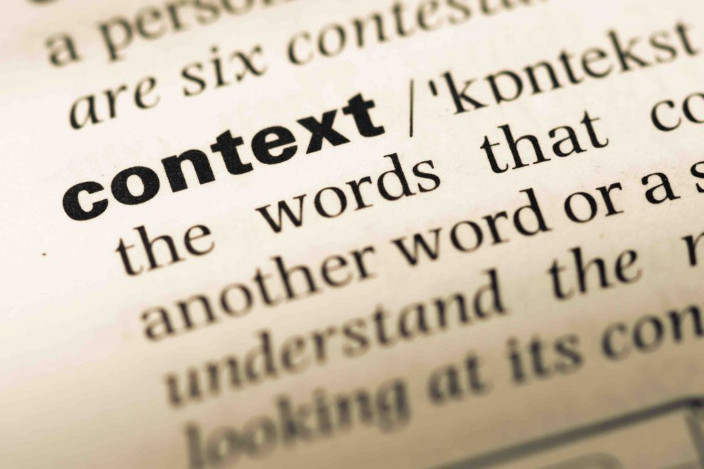Why is context important in language?